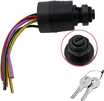 Mercury Push to Choke Ignition Key Switch Repl 87-88107A5 by Sierra Potted Wires