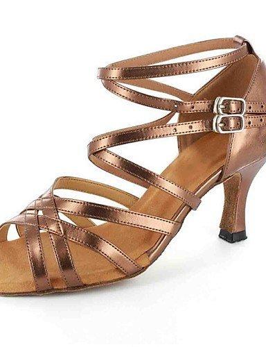 ShangYi sandales femmes latines personnalisées talon avec des chaussures de danse de buckie (plus de couleurs) , gold-us6 / eu36 / uk4 / cn36 , gold-us6 / eu36 / uk4 / cn36