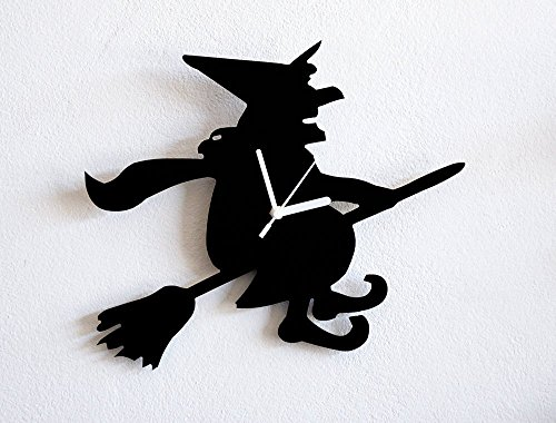 Halloween Witch Hazel Silhouette - Wall Clock ()