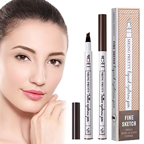 2 Pcs Tattoo Eyebrow Pen LINTEC Waterproof Microblading Eyebrow Tattoo Pencil with a Micro Fork Tip Applicator Creates Natural Looking Brow