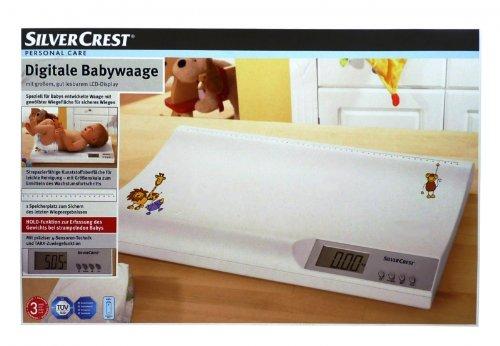 Silvercrest - Báscula digital para bebés hasta 20 kg grandes deutliche pantalla LCD, certificado TÜV): Amazon.es: Bebé