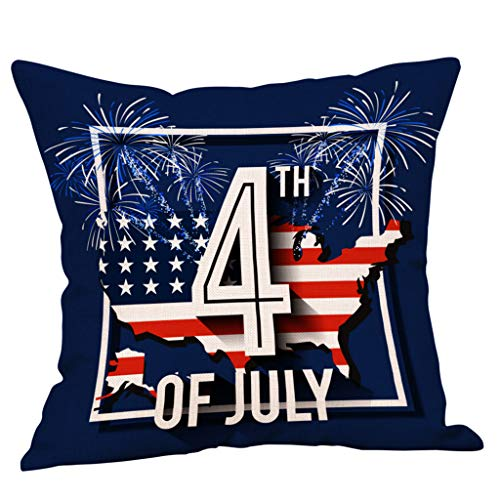 Pangxiannv Square Home Decorative Cushion Cover for Independence Day 2019 Happy Fourth of July July 4 1776 Cushion Pillow Outdoor Cushions Outdoor Pillows Floor Pillows Floor (Best Outdoor Cushions 2019)