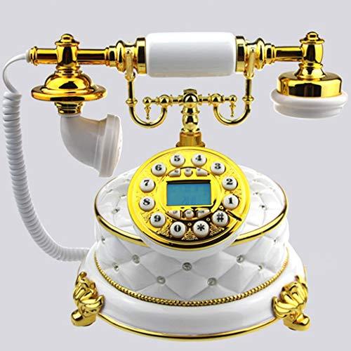 GJ European Fashion Diamond Jewel White Antique Telephone High-end Creative Hotel Antique Telephone Landline from GJ