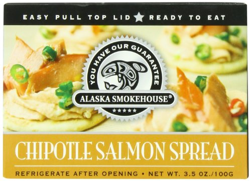 (Alaska Smokehouse Chipotle Salmon Spread Serving  Design, 3.5 Ounce Boxes (Pack of 6))