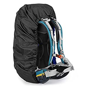 OUTAD Waterproof Backpack Rucksack Pack Rain Cover Bag Rainproof for Camping Hiking (Black, Small)