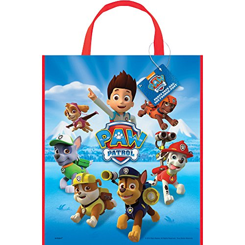 Unique Childrens Halloween Costumes Ideas - Large Plastic PAW Patrol Goodie Bag, 13
