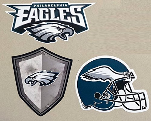 FATHEAD Philadelphia Eagles Team Set of 3 Eagles Logo Helmet Sign Official NFL Vinyl Wall Graphics 6