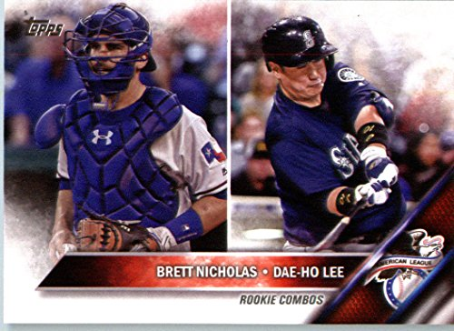 2016 Topps Update #US57 Brett Nicholas / Dae-Ho Lee Texas Rangers Baseball Rookie Card-MINT