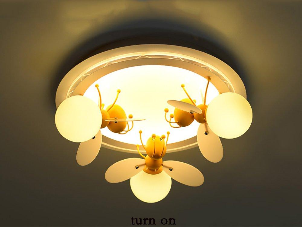 NAUY- Einfache und moderne Kinderzimmerbeleuchtung Kreative Große Wohnzimmer Beleuchtung LED Master-Schlafzimmer warme Persönlichkeit Decke Drei Kopf ( farbe : Warmes licht , größe : 60*21cm )