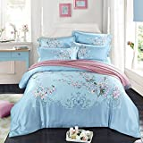 DHWM-The spring and summer double sided Tencel four piece, TENCEL linen bedding, bedding Set 4 Piece ,1.5m