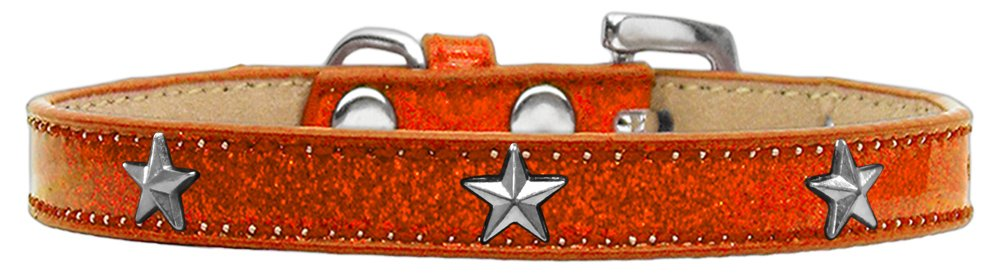orange Silver Size 14 orange Silver Size 14 Mirage Pet Products Star Widget Dog Collar, Size 14, orange Silver
