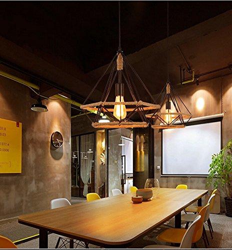 Ehime The sisal light industrial air retro iron chandeliers birdcage creative loft Restaurant, Bar chandelier 28cm