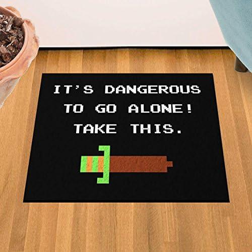 It s Dangerous To Go Alone 24 x 36 Doormat Welcome Floormat