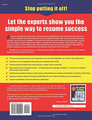 the guide to basic resume writing public library association editors of vgm 0639785414858 amazoncom books