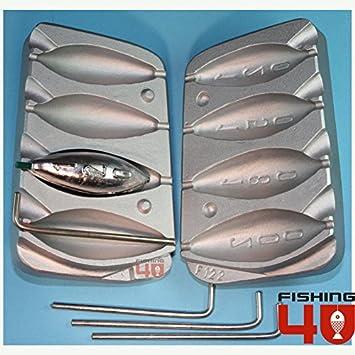 Torpedo playa Bomba in-liner pesca molde 120 - 150 - 180 - 200 g plomos: Amazon.es: Deportes y aire libre