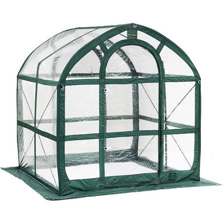Flowerhouse Portable Greenhouse - SpringHouse Greenhouse with green frame and clear body with UV protection for longevity