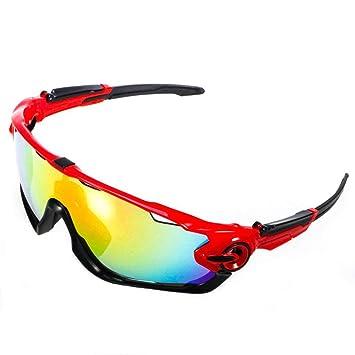 ACS1986 Gafas de Sol Deportivas polarizadas Protección UV400 Gafas de Ciclismo con 5 Lentes Intercambiables para Ciclismo, béisbol, Pesca, esquí, ...