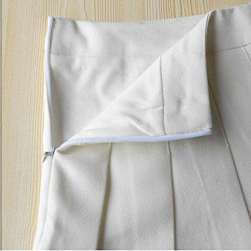 Mujer Falda Saideng Plisada Pliegues Blanco Mini Para De Escuela Tenis qHwwxrdtOX