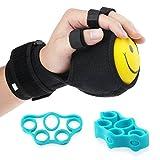 REAQER Grip Strength Ball Finger Device Training Equipment Anti-Spasticity Ball Splint Finger Orthosis for Hand Functional Impairment/Hemiplegia/Stroke
