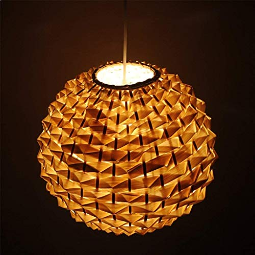 XQY Household Chandeliers, Cafe Bar Restaurant Decorated with Chandeliers, Chinese Style Restaurant Bamboo Chandelier Creative Personality Pineapple Lamp Antique Cafe Bedroom Rattan Art Ceiling Ligh