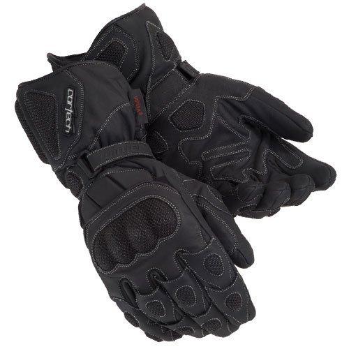 Cortech Scarab Winter Men's Leather Sports Bike Racing Motorcycle Gloves - Black / Medium