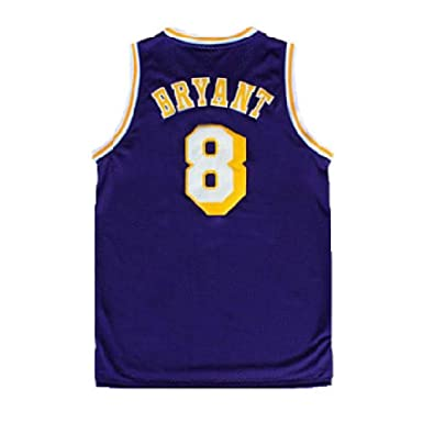 b3a4f3e26031 Gseras Youth Kobe Jersey Kid s Retro Jerseys Los Angeles 8 Boy s Basketball  Jersey Purple (S