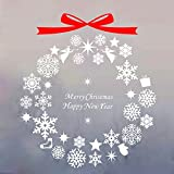 Forepin® Christmas Window Stickers Decorations Wallpaper For Room Wall Festival Decal