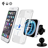 DOCA Car QI Charger Car Phone Holder Wireless Charger QI Wireless Charger 360° Rotatable Induction Charger for iPhone XS /XS Max / XR / X / 8/8 Plus Samsung Note 5/8 Galaxy S9 / S8 / S7 / S6 LG & All