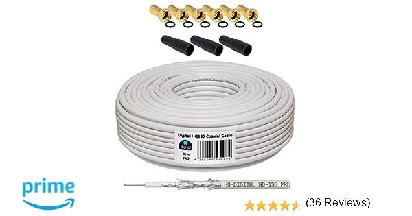 HB-DIGITAL Cable Coaxial de HB Digital Set SAT de cable con ...