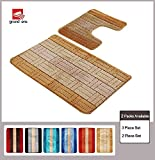 2 Piece Bathroom Rug Sets Grand Era 2 Piece Bathroom Rug Polypropylene Fiber Mat Set and Contour Rug Set (22