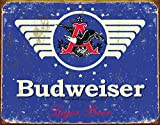 "Desperate Enterprises Budweiser 1936 Logo Tin Sign, 16"" W x 12.5"" H"