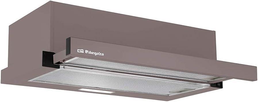 Orbegozo TL 07160 MA - Campana extractora telescópica 60cm, capacidad de extracción 308,2 m3/h, 3 niveles de potencia, 2 filtros de aluminio desmontables, iluminación LED: Amazon.es: Hogar