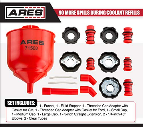 ARES 71502 | Spill Proof Coolant Filling Kit | Eliminates Trapped Air Pockets and Squeaky Belts Due to Overflow by ARES (Image #1)
