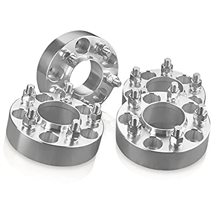 4 Ford Black Hubcentric Wheel Spacers Adapters for 5 lug F150 Expedition 1 inch