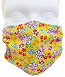 Mini Flowers Design Face Mask (Child Size/Smaller Face) By Breathe Healthy; Kids Allergy & Pollen Mask / Kids Flu Mask - Antimicrobial Germ Killing Agent