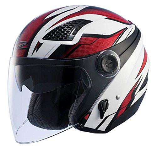 ナンカイ(NANKAI) ZEUS レイヤー システムヘルメット (インナーバイザー装備) ホワイト/レッド (L) NAZ213WHRDL B00XPH1BMQ