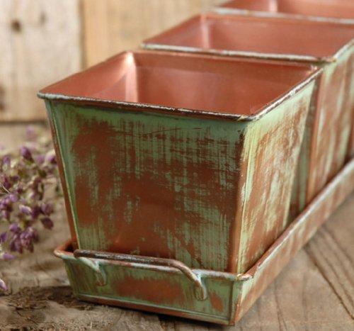 copper planter tray - 2