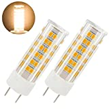 4 watt type g bulb - GY6.35 led bulb 6W 120V T3 T4 G6.35 Bi-pin JC Type Halogen Replacement Bulb 50W Dimmable,Pack of 2 (6 Watt, Warm White 3000K)