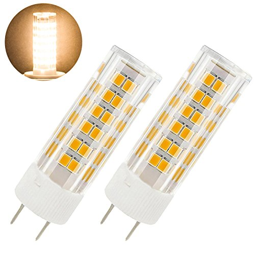 50w G6.35 Bi Pin - GY6.35 led bulb 6W 120V T3 T4 G6.35 Bi-pin JC Type Halogen Replacement Bulb 50W Dimmable,Pack of 2 (6 Watt, Warm White 3000K)