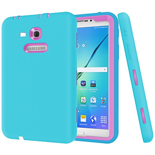 MAKEIT CASE Galaxy Tab 3 Lite 7.0 Case,Galaxy Tab E Lite 7.0 Case,Dual Layer Hybrid Armor Protection Defender Case Cover for Samsung Galaxy Tab 3 Lite 7.0