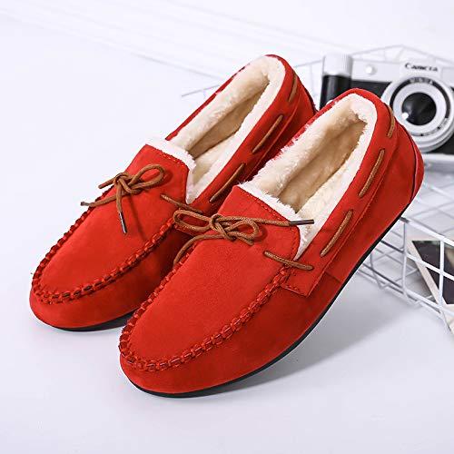 Fondo Fondo Fondo Caldo Scarpe Donna Donna Piatto Scarpe Addensare di Scarpe Scarpe Scarpe Scarpe Femminile HCBYJ calde Scarpe da red Cotone Piselli da PY6OXnqwS