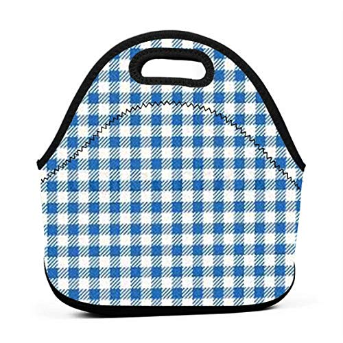 - FFOOD Checker Portable Outdoor Bento Large Hand Lunch Bag Baby Bag Satchel Tote Gift for Student Worker Travel Mummy