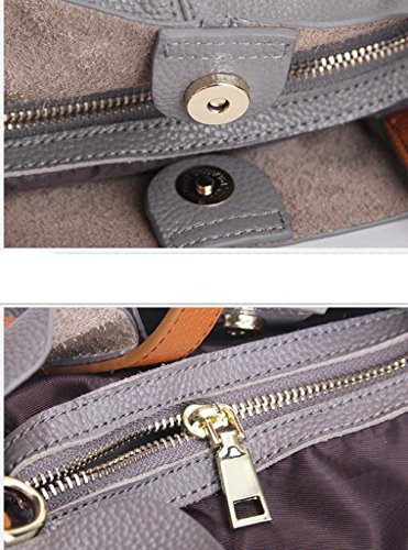 Shoulder Shoulder Mini Bulk Fashion Lady Gray Travel School Leather Bag Bag SU8HUqwrd