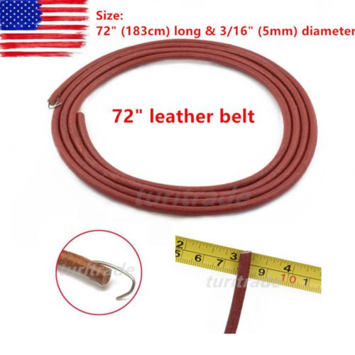NEW 72'' Replacement LEATHER BELT for SINGER TREADLE SEWING MACHINE - 3/16'' (5mm) US by Unknown