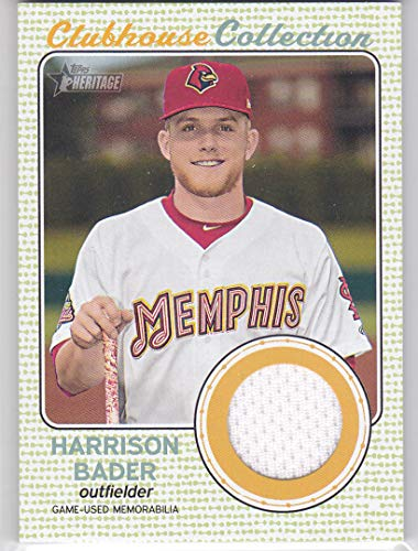 - 2017 TOPPS HERITAGE HARRISON BADER CLUBHOUSE COLLECTION ROOKIE JERSEY