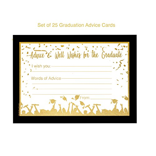 25 Graduation Advice Cards for the Graduate - High School or College Graduation Party Games Activities Invitations Decorations Supplies by Brag Fresh (Image #1)