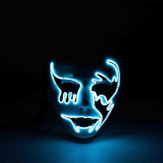 DSNGZ Halloween Máscara de Máscara LED Máscaras de Fiesta ...