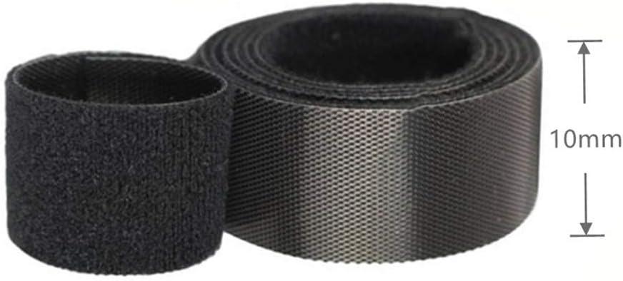 3 colores brida para cable de multitama/ño velcro Cable Correas Set,para TV//ordenador//guitarra,10mm*3m//rollo