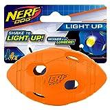 Nerf Dog 4in LED Bash Football - Orange, Dog Toy