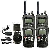 West Marine VHF150 DSC Handheld Marine Radio Submersible Waterproof (4 Pack) (Certified Refurbished)
